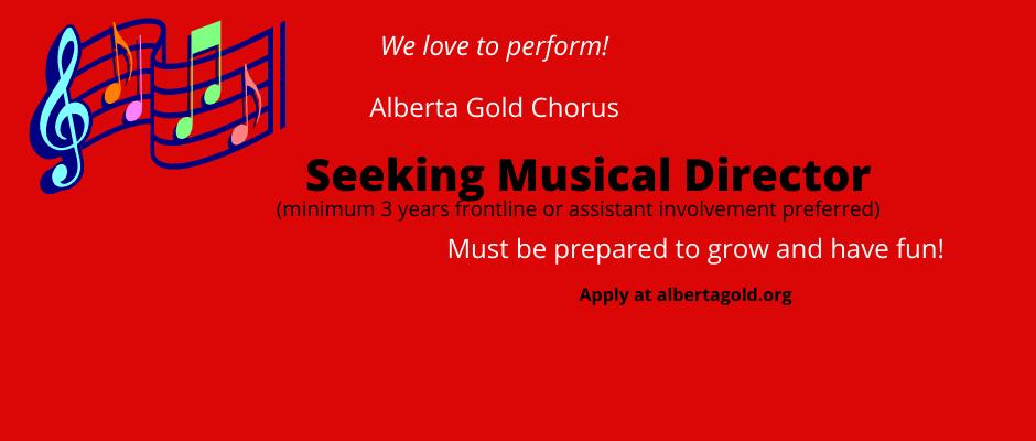Seeking Musical Director!